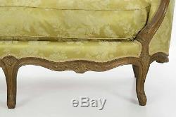 French Louis XV Period Carved Antique Canape Sofa Settee, Late 18th Century