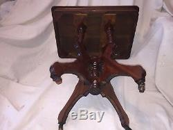 Gorgeous Eastlake Parlor Table Side Table Lamp Table Antique Late 1800s