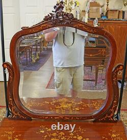 Gorgeous Late 19th Century Mahogany Inlaid Vanity Dressing Table Attr RJ Horner
