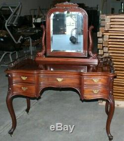 Gorgeous Late Victorian Solid Walnut Dolphin Motif Vanity