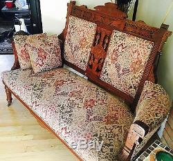 Gorgeous late Victorian style is Eastlake furniture 2 pieces, Excellent con