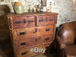 Grand antique French chest of drawers from Normandy C late 1800s