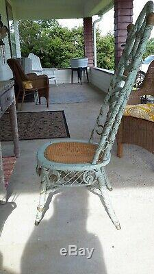 Haywood and Morell Rattan Receptionist Chair Late 19th Century Nice