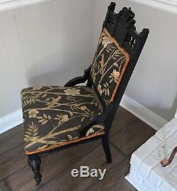 INCREDIBLE Late 1800s Antique Eastlake with Birds
