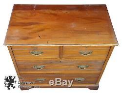 James Shoolbred Late Victorian Mahogany 4 Drawer Chest Chippendale Dresser