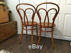 KOHN BENTWOOD CHAIRS. LIGHT BROWN. LATE 1800s