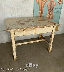 LATE 19TH C. LOUISIANA PRIMITIVE KITCHEN / WORK TABLE. FAMOUS MOVIE PROP. L@@k