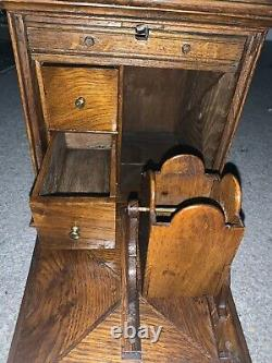 LATE 19th Century SOLID Oak Trunk, SMOKING/tea Companion Top Chest