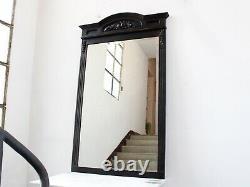 Large Late 19th Century French Ebonised Overmantel Mirror
