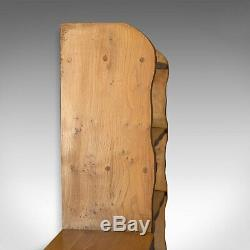 Large Open Bookcase, Elm, Display Shelves, Arts and Crafts Taste, Late C20th