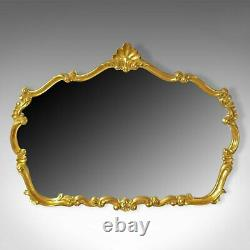 Large, Vintage Wall Mirror, Rococo Revival Manner, English, Late 20th Century