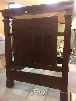 Late 1700s English Four Post Canopy Bed Cypress Wood Colonial As Is