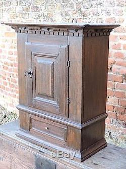 Late 17th Century Antique Oak Wall Cupboard or Mural Cupboard