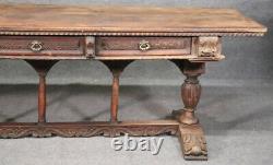 Late 17th Century Walnut Italian Baroque Monastic Library Trestle Dining Table