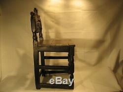 Late 17th century Antique oak chair cut down for a child fine colour & patina