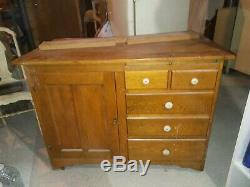 Late 1800 / early 1900 antique hoosier bakers cabinet
