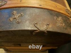 Late 1800's Antique Swedish Camelback Ornate Trunk-Gorgeous