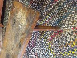 Late 1800's Primitive Butchers Bench solid Oak Coffe Table, Porch Bench