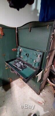 Late 1800's Vintage Schmit Steamer Trunk