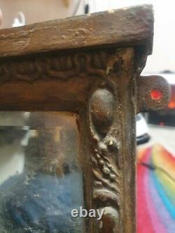 Late 1800s Antique vintage Mirror Hand Carved