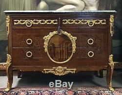 Late 1800s French Empire Transitional Commode Louis XV/XVI