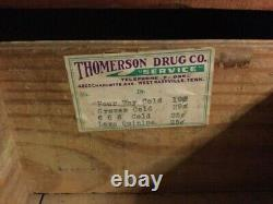 Late 1800s Thomerson Drug Company Nashville, Tenn. Apothecary Cabinet Pine