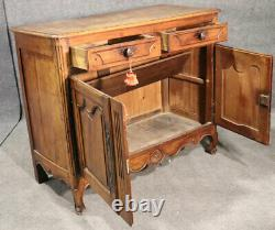 Late 18th Century Carved Walnut French Country Louis XV Server Buffet