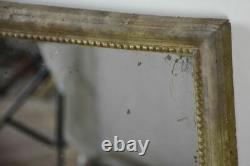 Late 18th Century French mirror with gray patina 28¼ x 21¾