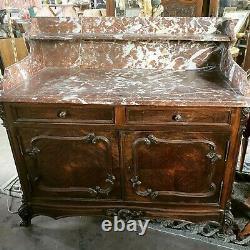 Late 18th Century Louis XV Server Buffet Original Marble Top