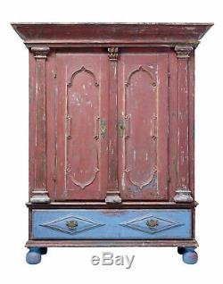 Late 18th Century Painted Swedish Baroque Cabinet