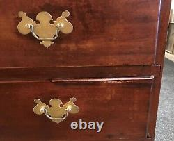 Late 18th c Two Over Four Drawer Tall Chest, Probably Rhode Island in Origin