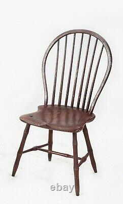 Late 18th century Four Mid Atlantic States American Windsor Chairs