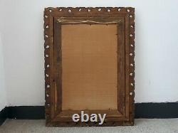 Late 19C Antique French Ornate Gilt Mirror