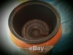 Late 19th C. Antique, ceramic Hinks oil lamp No. 2958