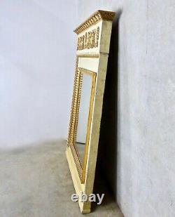 Late 19th C Large Italian Gilt Wood Trumeau Mantel Mirror