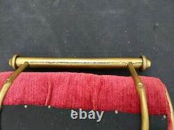 Late 19th C. Victorian Cast & Tubular Brass C. H. Hare Simplex Music Cello Stool