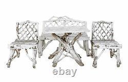 Late 19th Century 4 Piece Bentwood Garden Furniture