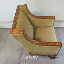 Late 19th Century American Lounge Chair With Dutch Style Marquetry