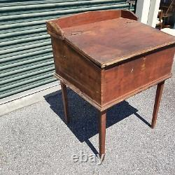 Late 19th Century Bible Box / Slant Top Desk on Legs with Key
