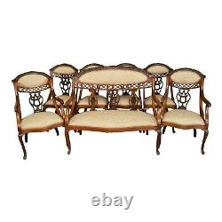 Late 19th Century English Mahogany Seating Set Set of 7