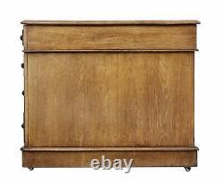 Late 19th Century English Oak Pedestal Desk