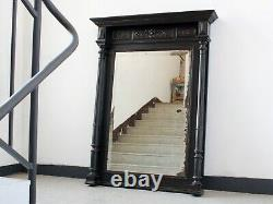 Late 19th Century French Ebonised Overmantel Mirror