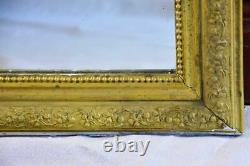Late 19th Century French Louis Philippe mirror with gold frame 21¼ x 29½