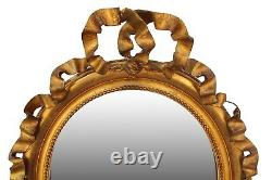 Late 19th Century French Louis XVI-style Giltwood Wall Mirror