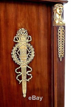 Late 19th Century French Mahogany And Ormolu Biblotheque