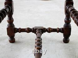 Late 19th Century French Oak Stool