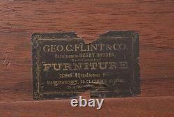 Late 19th Century George C. Flint & Co. Roll Top Secretary Desk