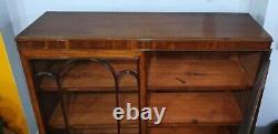 Late 19th Century Glazed Mahogany Adjustable Shelved Bookcase