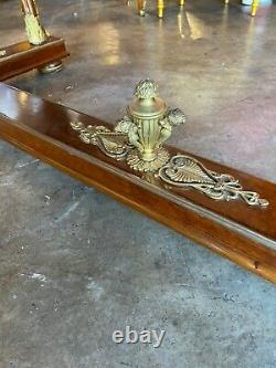Late 19th Century Impressive Large Ornated Gilt Bronze Empire Desk