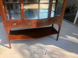 Late 19th Century Irvin & Casson Mahogany Display Cabinet